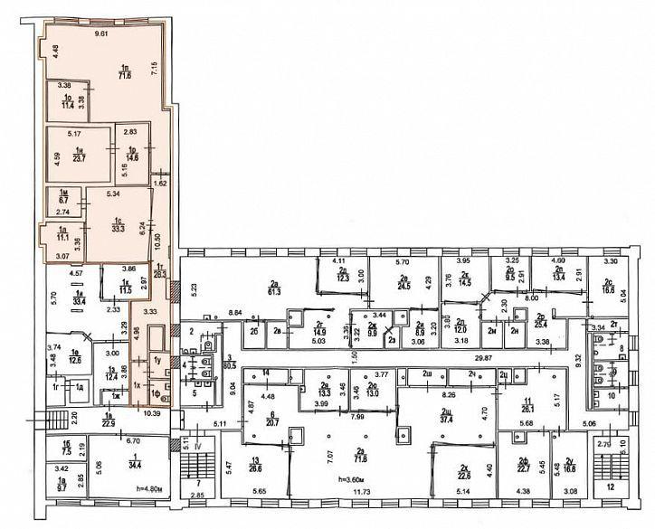 План офиса 237 кв.м Новоспасский Двор