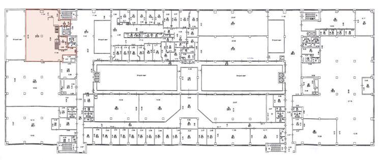 План офиса 273 кв.м Новопсасский Двор