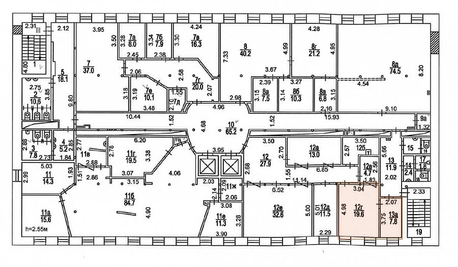 План офиса 30 кв.м Новоспасский Двор